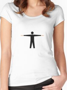 Airplane Marshaller STRAIGHT Women's Fitted Scoop T-Shirt