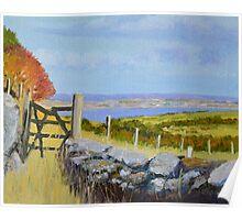 Manx Broken Gate Autumn Poster