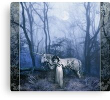 The Meeting in The Woods Canvas Print