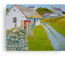 Manx Red Gate Canvas Print