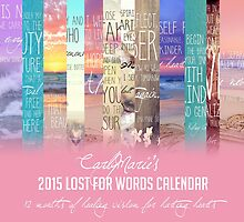 Lost For Words Calendar Cover - 2015 by CarlyMarie