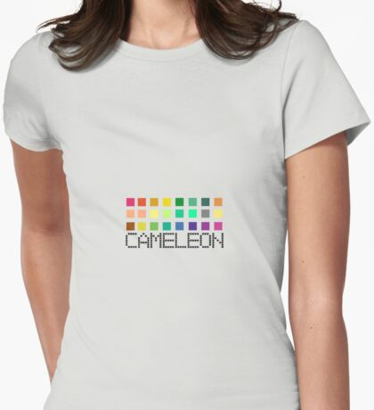 A CAMELEON CONTAINS Womens Fitted T-Shirt