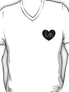 "lea michele ""louder"" inspired heart (black) T-Shirt"