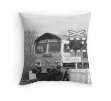 Freight Train Throw Pillow