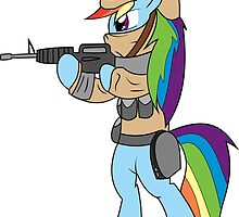 Rainbow Dash in Arms Art by Solbessx
