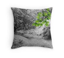 Branches and Foliage in Baden-Baden Throw Pillow