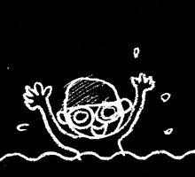 Swimming boy by amberisamber