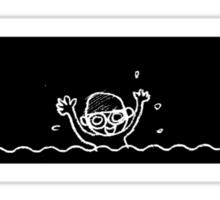 Swimming boy Sticker