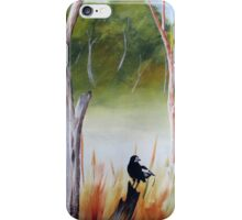 Magpies of the Aussie bush iPhone Case/Skin