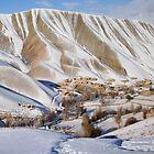 Village in winter (Afghanistan) by Antanas