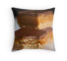 Chocolate and Caramel Throw Pillow
