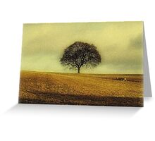 Alone on the hill Greeting Card