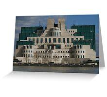 MI6 Building  Greeting Card