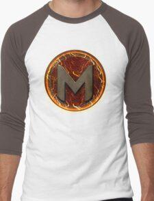 Magmasurge Logo | Apparel, Stickers, Pillows and more! Men's Baseball ¾ T-Shirt