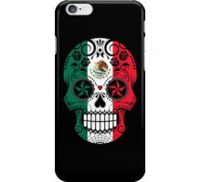 Sugar Skull with Roses and Flag of Mexico iPhone Case/Skin