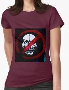 No Entry for Zombies   Womens Fitted T-Shirt