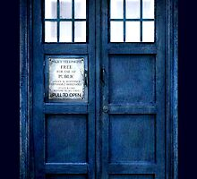 Doctor Who Tardis Phone Case by Jen *