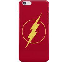 Simple Design Flash Bolt - Gold iPhone Case/Skin
