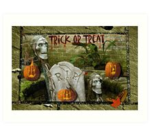 Trick or Treat on Spooky Halloween! Art Print