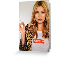 Kate Moss for Supreme Media Cases, Pillows, and More. Greeting Card