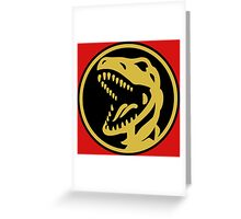 Red Ranger Coin Greeting Card