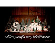 Old Fashioned 1940s Christmas Village Photographic Print