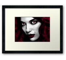 Red Girl Framed Print