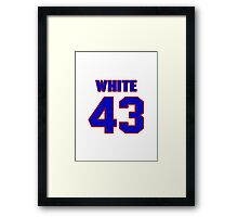 National baseball player Alex White jersey 43 Framed Print