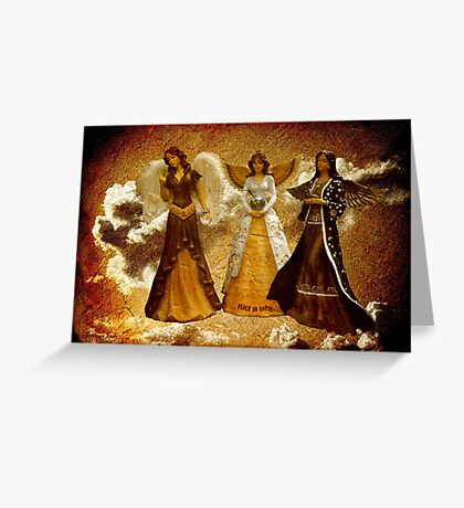 Peace on Earth Is Grungy Work Greeting Card