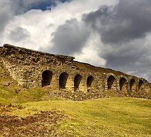 Rosedale Abbey Iron Works Kilns by Stewart Laker
