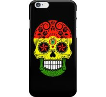 Sugar Skull with Roses and Flag of Bolivia iPhone Case/Skin