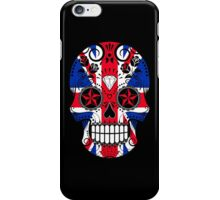 Sugar Skull with Roses and Union Jack iPhone Case/Skin