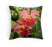 Tropical Flower Series - Orchids Throw Pillow