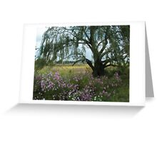 Beneath the Willow Tree Greeting Card