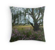 Beneath the Willow Tree Throw Pillow