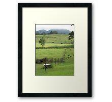 paddocks Framed Print