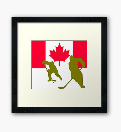Canada Ice hockey Framed Print