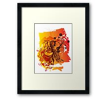 Retro Abstract Sax Framed Print