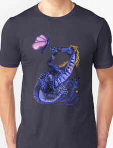 Blue Dragon and Butterfly T-Shirt