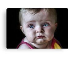 Sad Blue Eyes Canvas Print
