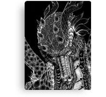 dragons head black Canvas Print