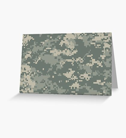 Army ACU Camouflage Greeting Card