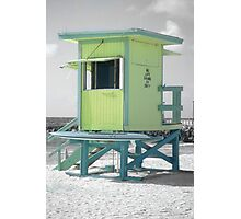 No Life Guard On Duty, South Beach Photographic Print