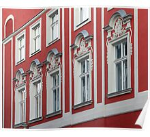 Colours of Cracow - salmon pink Poster