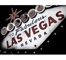 Vegas Sign No. 1 Photographic Print