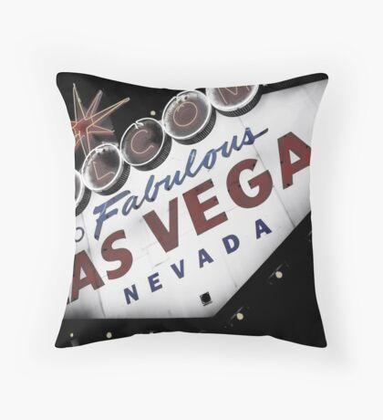Vegas Sign No. 1 Throw Pillow