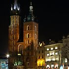 St Mary&#x27;s Church, Market Square, Cracow by M G  Pettett