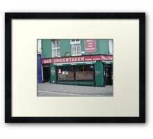 Bar undertaker Framed Print