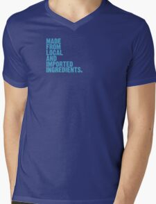 ingredients: local and imported Mens V-Neck T-Shirt