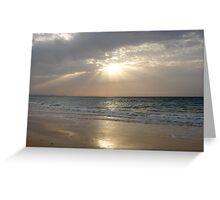 Daybreak On The Beach Greeting Card